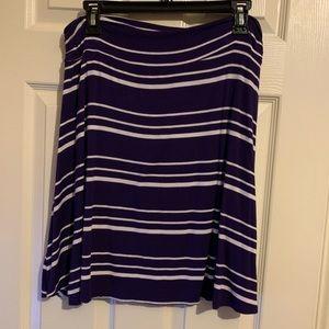 Purple A-Line Skirt